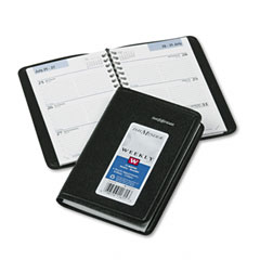 Recycled Weekly Appointment Book, Black, 3 3/4&quot; x 6&quot;
