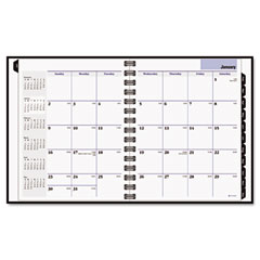 Dayminder premiere - recycled monthly planner, black, 6 7/8-inch x 8 3/4-inch, sold as 1 ea