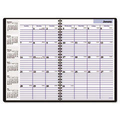 Dayminder premiere - recycled monthly planner, black, 7 7/8-inch x 11 7/8-inch, sold as 1 ea