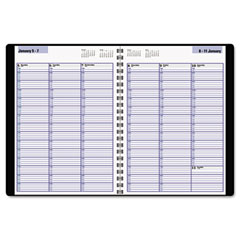 Dayminder - recycled weekly appointment book, black, 8-inch x 11-inch, sold as 1 ea