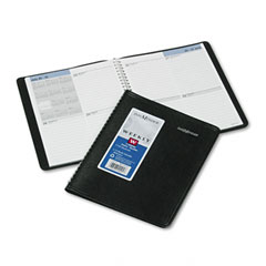 Recycled Weekly Planner,Black, 6 7/8&quot; x 8 3/4&quot;