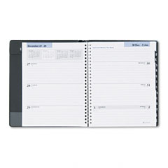 Dayminder - recycled executive weekly/monthly planner, black, 6 7/8-inch x 8 3/4-inch, sold as 1 ea