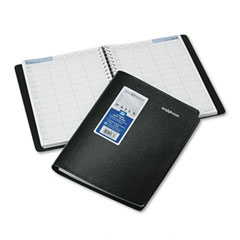 Dayminder premiere - recycled four-person group daily appointment book, black, 7 7/8-inch x 11-inch, sold as 1 ea
