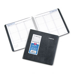 Dayminder - recycled weekly appointment book, black, 8-inch x 8 1/2-inch, sold as 1 ea