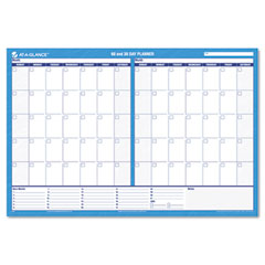 At-a-glance - recycled 30/60-day undated horizontal erasable wall planner,  36-inch x 24-inch, sold as 1 ea