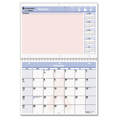 At-a-glance - quicknotes special edition recycled desk/wall calendar, 11-inch x 8-inch, sold as 1 ea