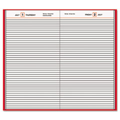 At-a-glance - standard diary recycled daily diary, red, 7 11/16-inch x 12 1/8-inch, sold as 1 ea