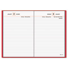 At-a-glance - standard diary recycled daily reminder, red, 5-inch x 7 1/2-inch, sold as 1 ea