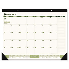At-a-glance - recycled desk pad, 22-inch x 17-inch, sold as 1 ea