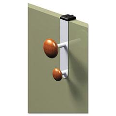 Alba PM2PARTBO Cubicle Garment Peg, 2 Hook, 2-19/50 X 7-8/9 X 7-3/4, Metallic Grey