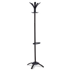 Alba - cleo coat stand, black, metal and plastic, stand alone rack, 10 knobs, sold as 1 ea