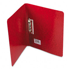 Acco - presstex grip punchless binder with spring-action clamp, 5/8-inch capacity, red, sold as 1 ea