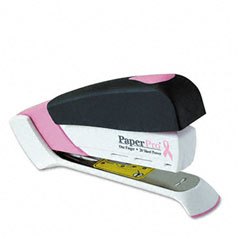 Paperpro - pink ribbon desktop stapler, 20-sheet capacity, black/pink, sold as 1 ea