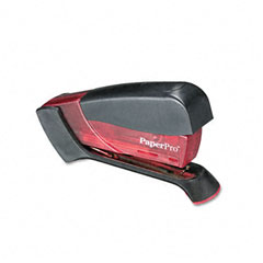 Paperpro - compact stapler, 15-sheet capacity, translucent pink, sold as 1 ea