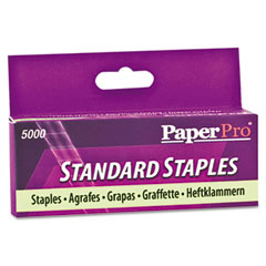 Paperpro - full strip standard office staples, 5,000/box, sold as 1 bx