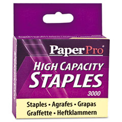 Paperpro - heavy-duty staples, 3/8 inch leg length, 3,000/box, sold as 1 bx