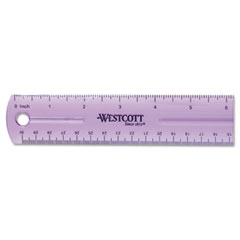 Westcott - jeweltone plastic ruler, 12-inch, assorted transparent colors, sold as 1 ea