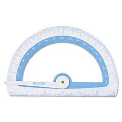 Westcott - protractor treated w/microban antimicrobial protection, plastic, 6-inch,assorted, sold as 1 ea