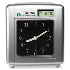 Acroprint - model atr120 analog/lcd automatic time clock, sold as 1 ea