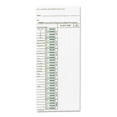 Acroprint - time card for model att310 electronic totalizing time recorder, weekly, 200/pack, sold as 1 pk