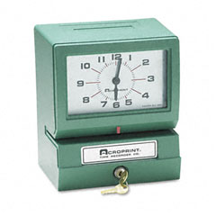 Acroprint - model 150 heavy-duty analog automatic print time clock, sold as 1 ea