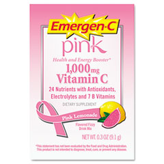 ALA EV283 Immune Defense Drink Mix, Pink Lemonade, 0.3 Oz, Packet, 50/Pack
