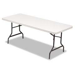 Alera - resin rectangular folding table, 72w x 30d x 29h, platinum, sold as 1 ea