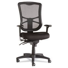 Alera - elusion series mesh high-back multifunction chair, black, sold as 1 ea