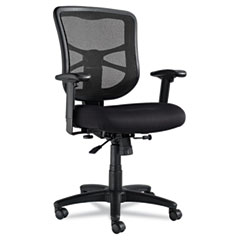 Alera - elusion series mesh mid-back swivel/tilt chair, black, sold as 1 ea