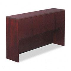 Alera - verona veneer series storage hutch with 4 doors, 66w x 15d x 36h, mahogany, sold as 1 ea
