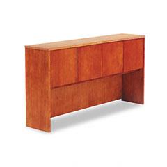 Alera - verona veneer series storage hutch with 4 doors, 72w x 15d x 36h, cherry, sold as 1 ea