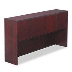 Alera - verona veneer series storage hutch with 4 doors, 72w x 15d x 36h, mahogany, sold as 1 ea