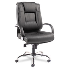 Alera - ravino big & tall series high-back swivel/tilt leather chair, black, sold as 1 ea