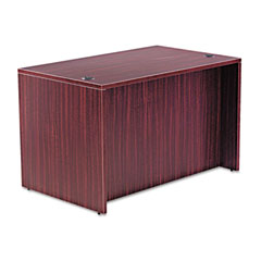 Alera - valencia series straight front desk shell, 47-1/4w x 29-1/2d x 29-1/2h, mahogany, sold as 1 ea