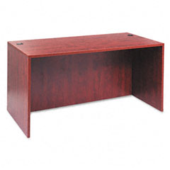 Alera - valencia series straight front desk shell, 59-1/8 x 29-1/2 x 29-1/2, med cherry, sold as 1 ea