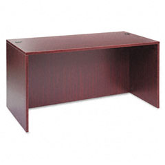 Alera - valencia series straight front desk shell, 59-1/8w x 29-1/2d x 29-1/2h, mahogany, sold as 1 ea