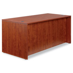 Alera - valencia series straight front desk shell, 65w x 29-1/2d x 29-1/2h, med cherry, sold as 1 ea