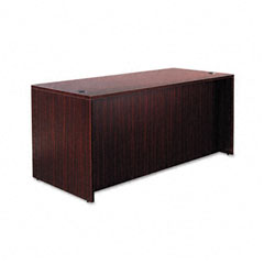 Alera - valencia series straight front desk shell, 65w x 29-1/2d x 29-1/2h, mahogany, sold as 1 ea