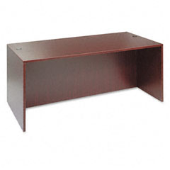 Alera - valencia series straight front desk shell, 71w x 35-1/2d x 29-1/2h, mahogany, sold as 1 ea
