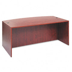 Alera - valencia bow front desk shell, 71w x 35-1/2d to 41-3/8d x 29-1/2h, medium cherry, sold as 1 ea