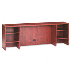 Alera - valencia series organizer hutch, 70-3/4w x 11-3/4d x 23-1/2h, medium cherry, sold as 1 ea