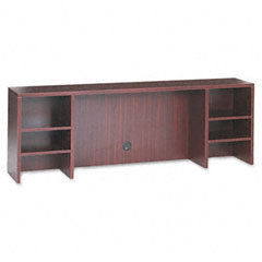 Alera - valencia series organizer hutch, 70-3/4w x 11-3/4d x 23-1/2h, mahogany, sold as 1 ea