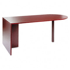 Alera - valencia series d-top desk, 72w x 36d x 29-1/2h, mahogany, sold as 1 ea
