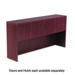 Alera - valencia series hutch doors, laminate, 15-1/2w x 3/4d x 15h, mahogany, 4/st, sold as 1 st