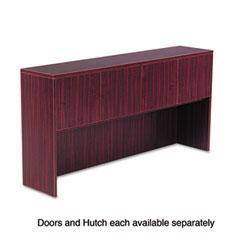 Alera - valencia series hutch doors, laminate, 17w x 3/4d x 15h, mahogany, 4/set, sold as 1 st