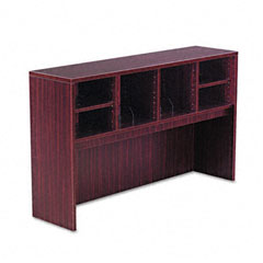 Alera - valencia series open storage hutch, 58-7/8w x 15d x 35-1/2h, mahogany, sold as 1 ea