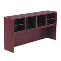 Alera - valencia series open storage hutch, laminate, 64-3/4w x 15d x 35-1/2h, mahogany, sold as 1 ea
