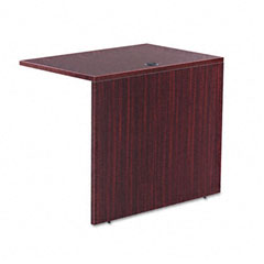Alera - valencia series reversible return/bridge shell, 35w x 23-5/8d, mahogany, sold as 1 ea