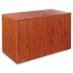 Alera - valencia series reversible return/bridge shell, 47-1/4w x 23-5/8d, medium cherry, sold as 1 ea