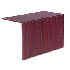 Alera - valencia series reversible return/bridge shell, 47-1/4w x 23-5/8d, mahogany, sold as 1 ea